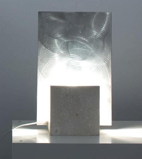 Reflex Steel, Floor lamp made of stone, square shape