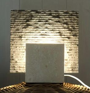 Reflex Stone, Floor lamp made of stone, cubic shape