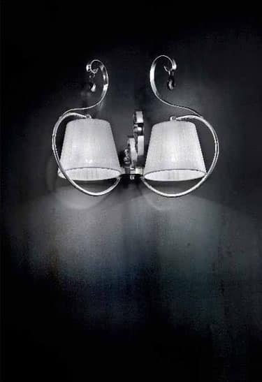 Romantica applique, Wall lamp with chromed metal frame