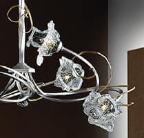 Rose chandelier, Modern chandelier with hand-forged iron structure
