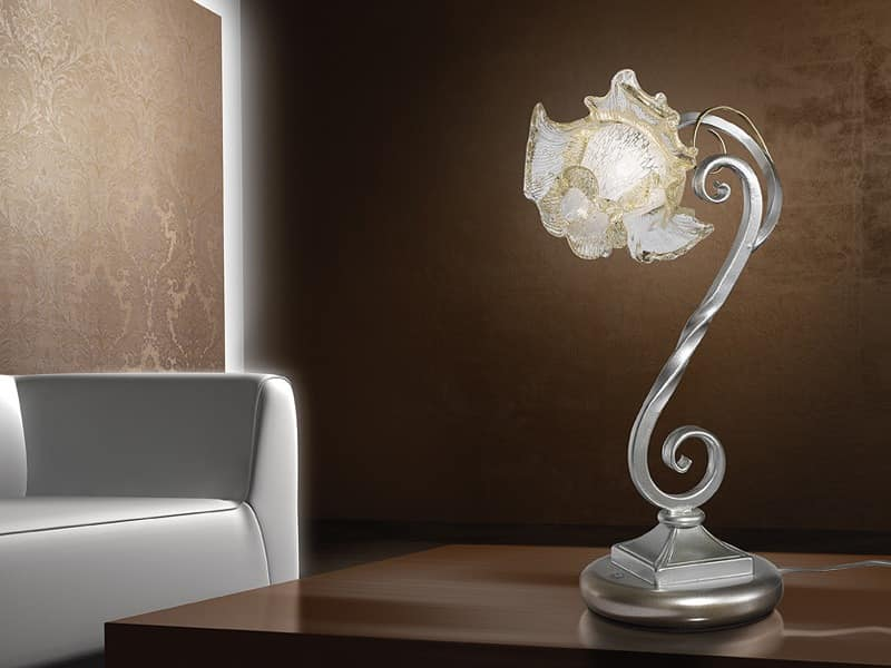 Rose table lamp, Table lamp in naturalistic style, for modern desks