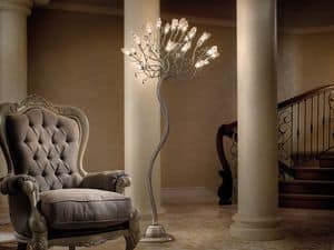 Soffio floor lamp, Floor lamps in iron and glass, various finishes