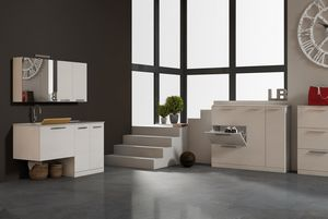 LAVANDERIA 02, Laundry cabinet with hinged doors with sink