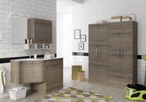 LAVANDERIA 11, Laundry cabinet with hinged doors with sink