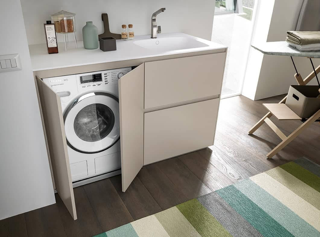 Compact Cabinet For Laundry With Washing Machine