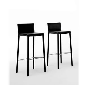 Agata SG high, Contemporary barstool fully covered in leather