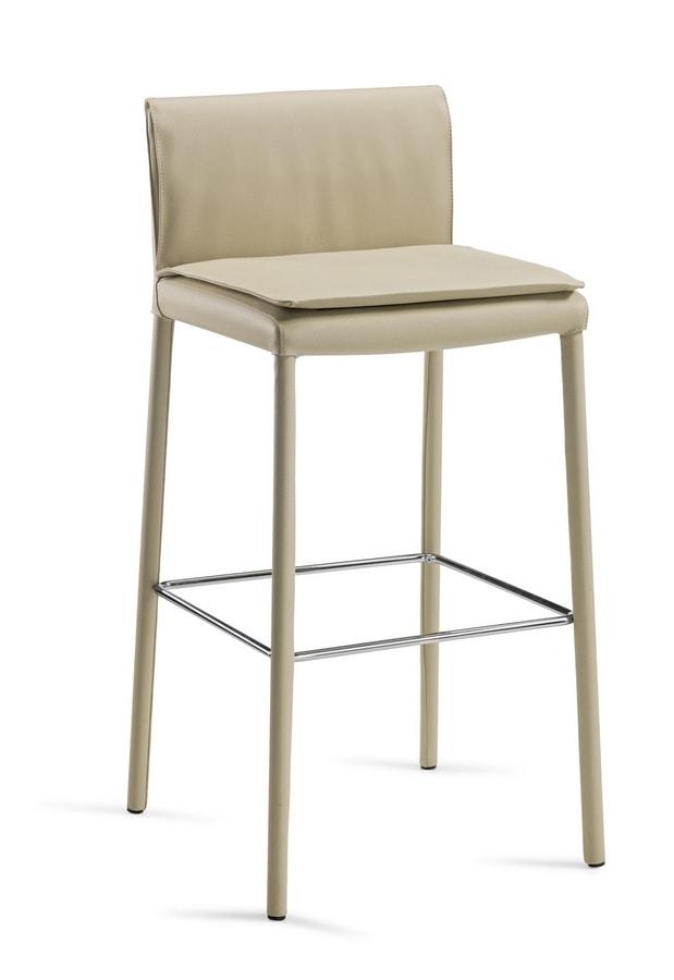 Agorà SG, Fully upholstered stool