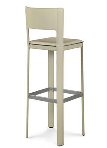 Alex 2.0 high barstool 10.0004, Essential stools covered in leather