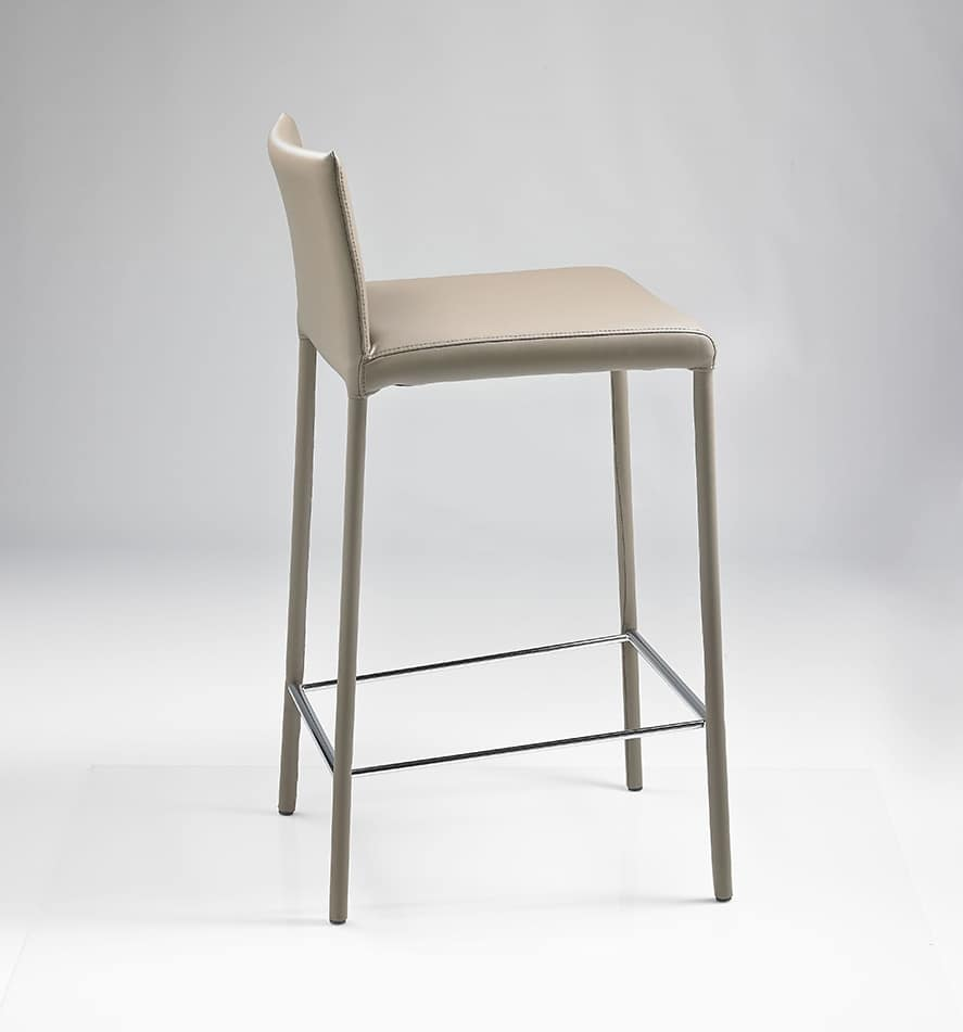 ART. 219-236/A, Stool for bar and kitchen, leather upholstered