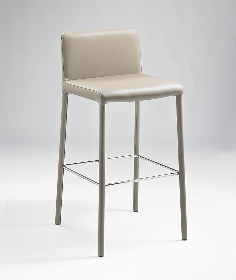 ART. 301/A SARAH, Stool completely covered in bonded leather, different colors available