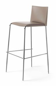 Gazzella barstool 10.0303, Stackable stool, with leather covering