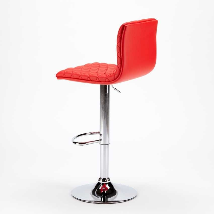 High Bar Stool and Kitchen DENVER Design Quilted Leatherette - SGA800DEN, Quilted stool in imitation leather