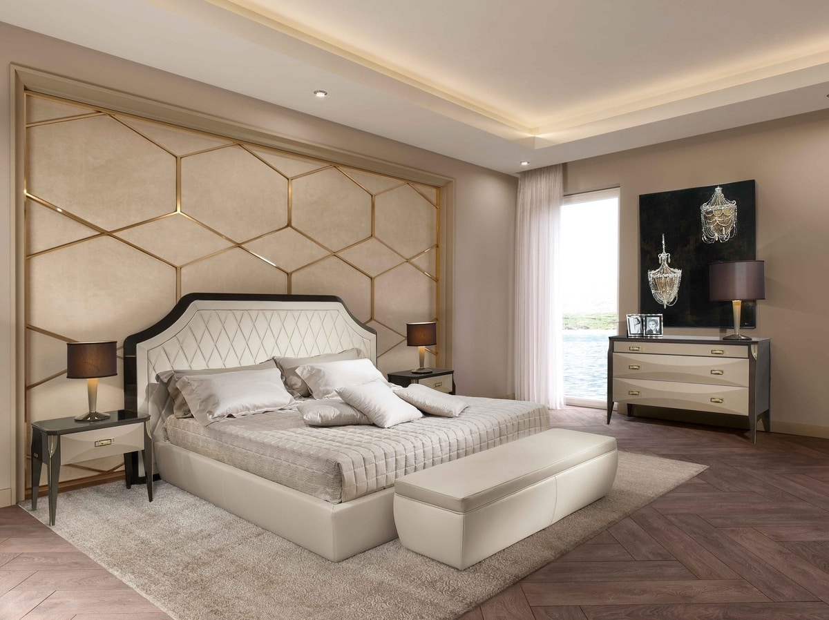 ART. 3350, Quilted leather bed