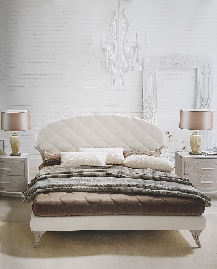 Ninfea, Bed with faux leather headboard