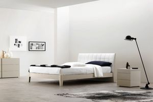 Relux, Bed with quilted leather headboard