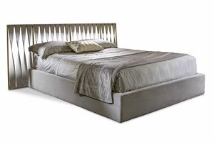 Twist bed, Bed with leather headboard