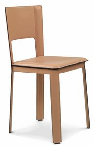 Alex 2.0 chair low 10.0002, Chairs upholstered in leather