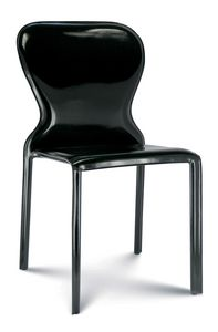 Amanda, Chair fully upholstered in leather
