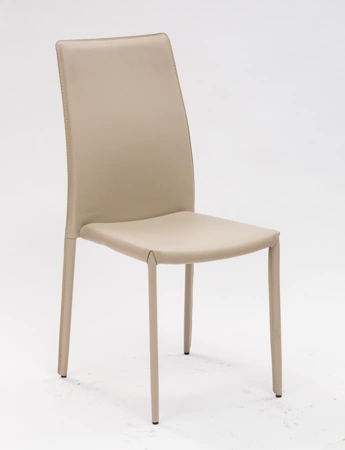 Art. 232 Vanity, Chair upholstered in PVC, for kitchen and dining room