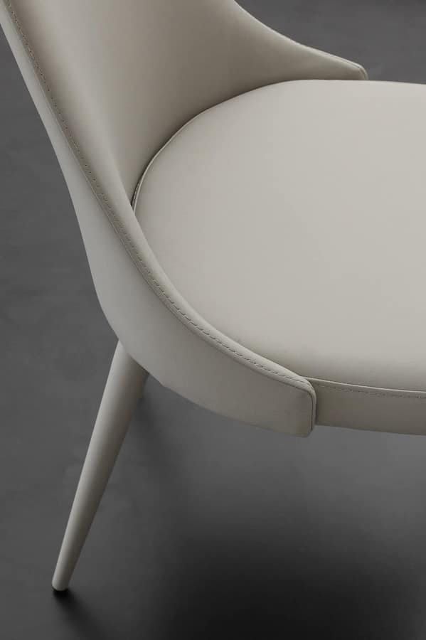 Art. 240 Sinfonia, Dining chair, for restaurant, covered in faux leather