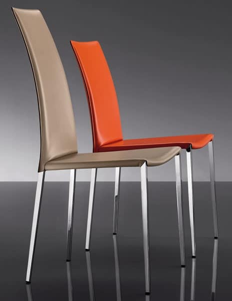 ART. 252 MISS, Leather upholstered chairs, modern style, for Hotel