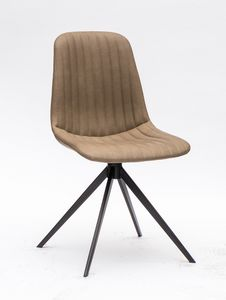 Art. 255 Cinquecento, Upholstered imitation leather chair, with verit stitching
