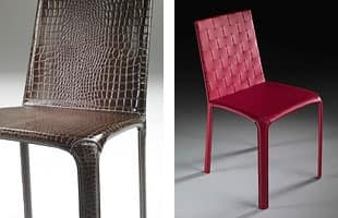 Cloe, Chair completely covered in leather, for home