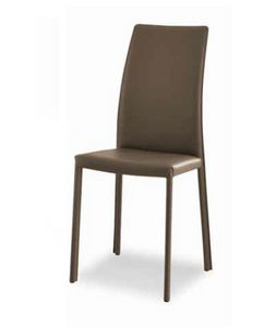 Giselle-A, Leather chair with high backrest