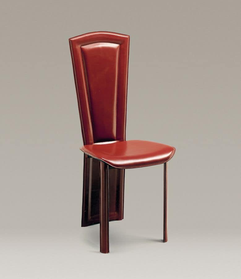 Imperiale, The back of the leather chair is all in one with the rear legs