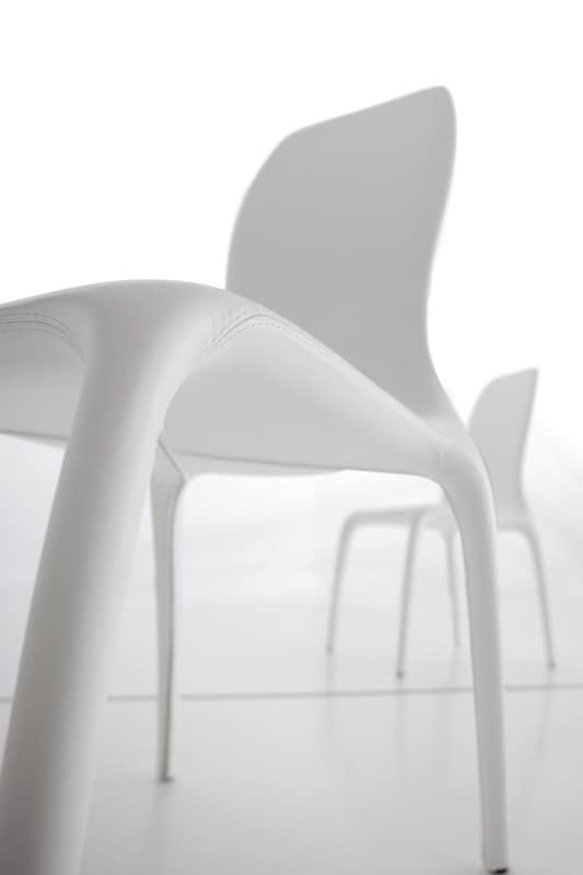 LISETTA, Chair upholstered, with new design, soft and visible lines