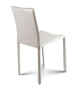 Giada low, Chair completely upholstered in leather