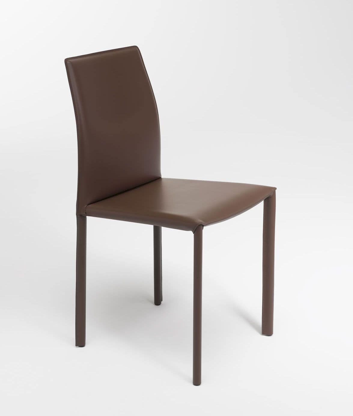 Margaret, Modern chair, upholstered in simil leather, available in various colors