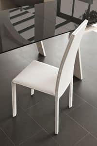 MIAMI SE136, Leather chair ideal for restaurants