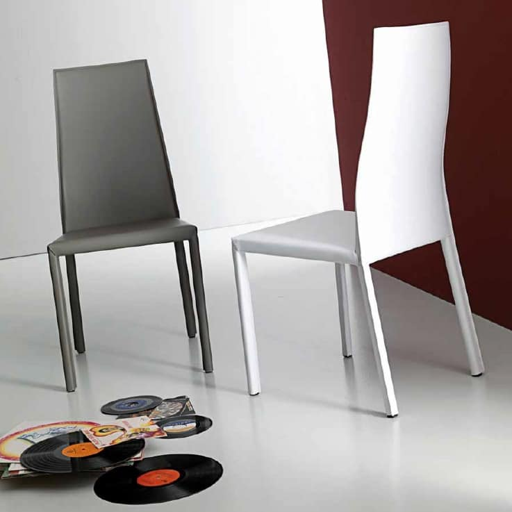 Onda, Chair in  rigenerated hide
