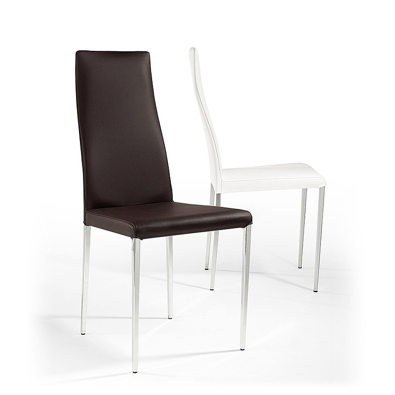 Rio, Leather chair, tapered legs, for bars and restaurants