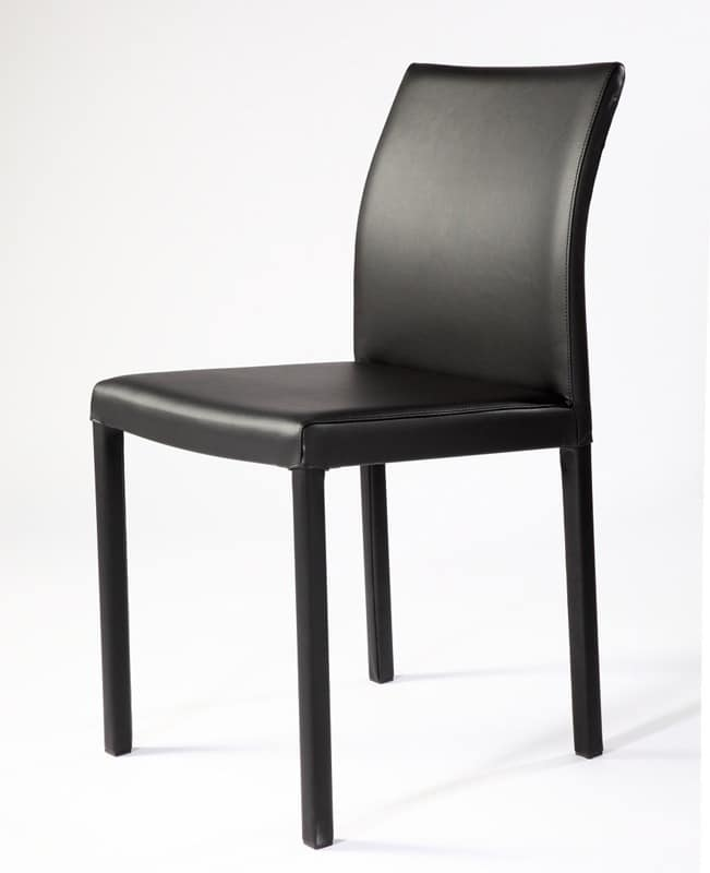Rose low, Chair with square steel tubular, for waiting room
