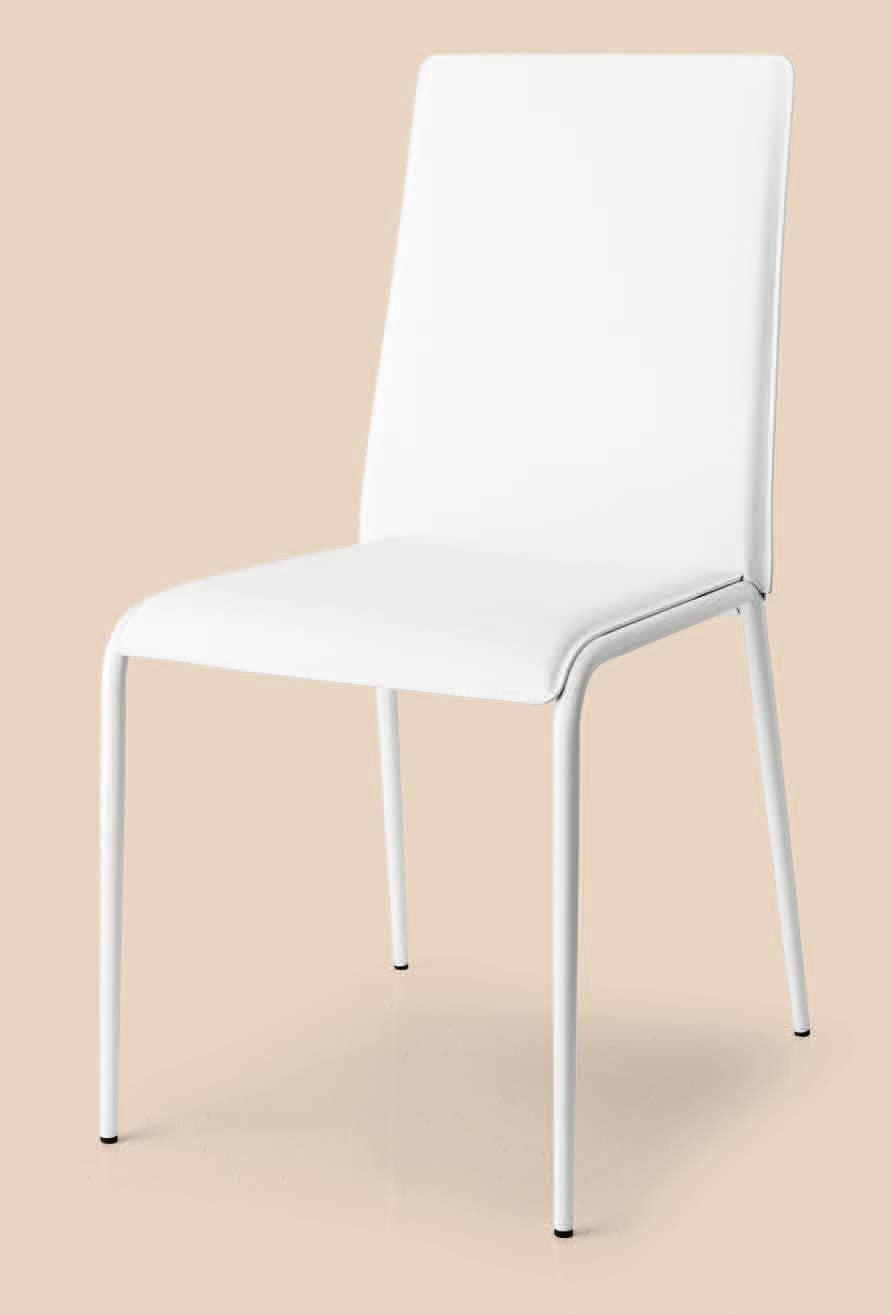 SE 1508, Stackable chair in metal and bonded leather