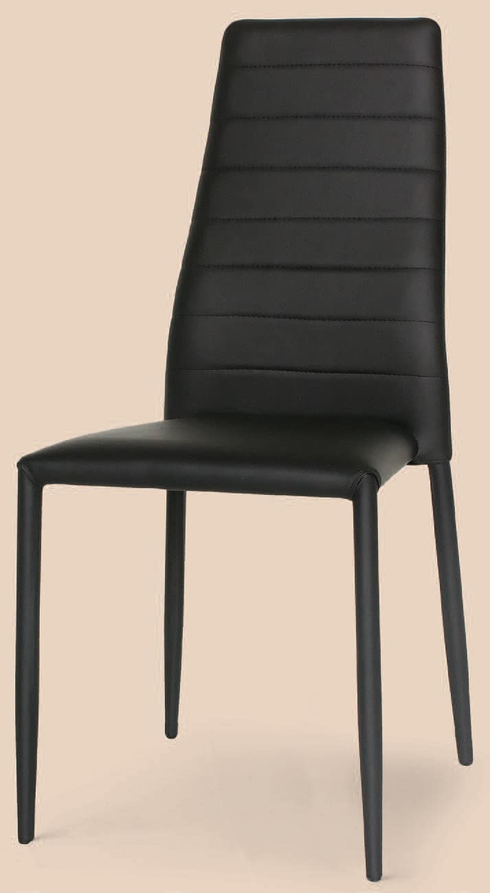 SE 620 ECO, Metal chair completely covered in leather, for bars