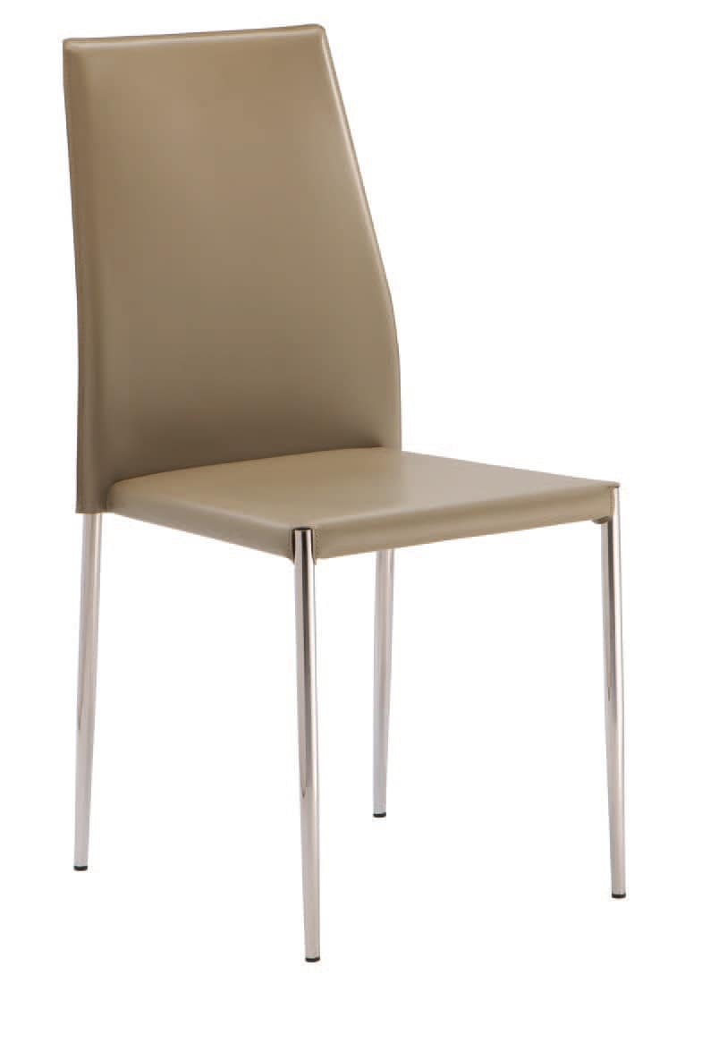 SE 620, Chair upholstered in faux leather, stackable, for hotels