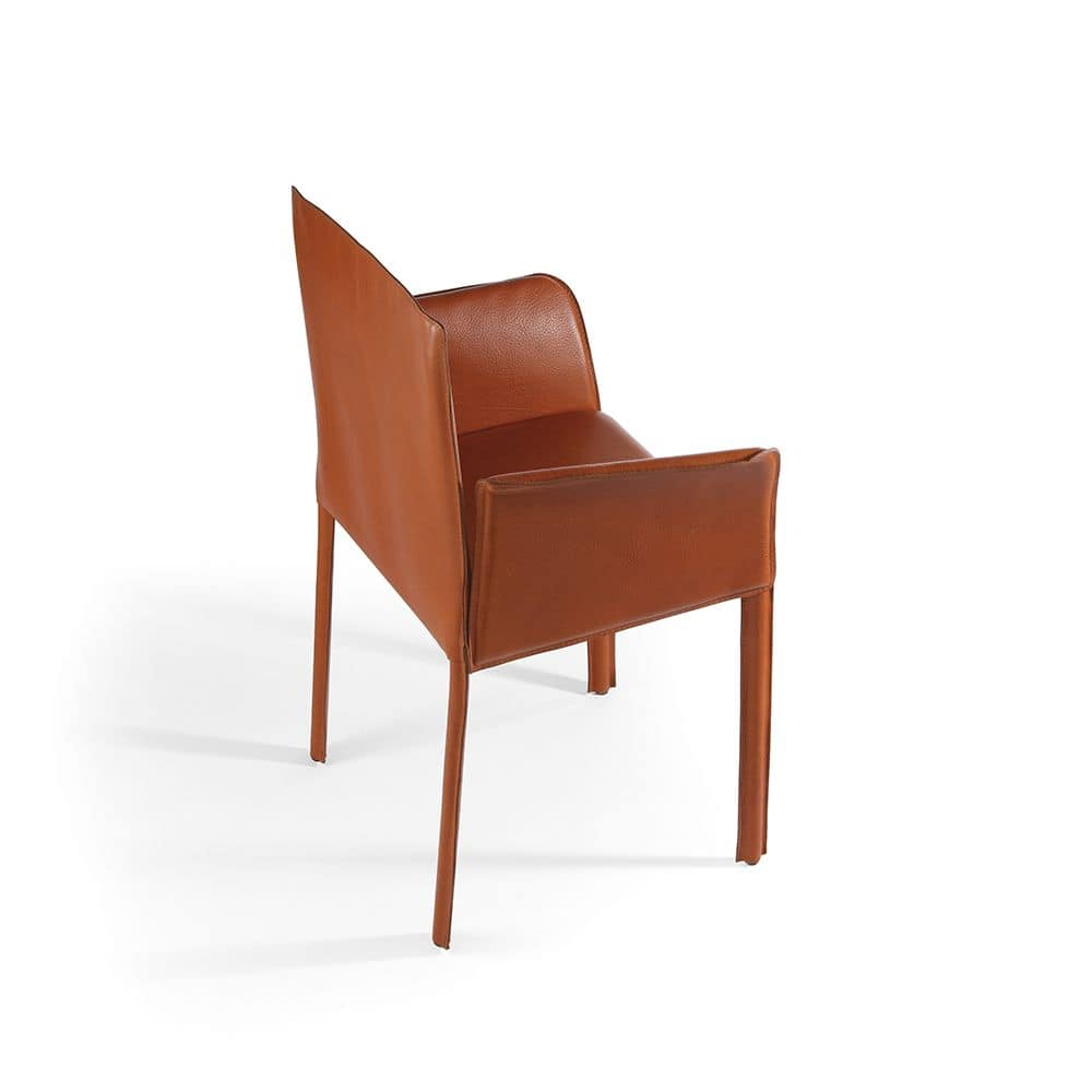 Yuta BR, Chair completely covered in leather