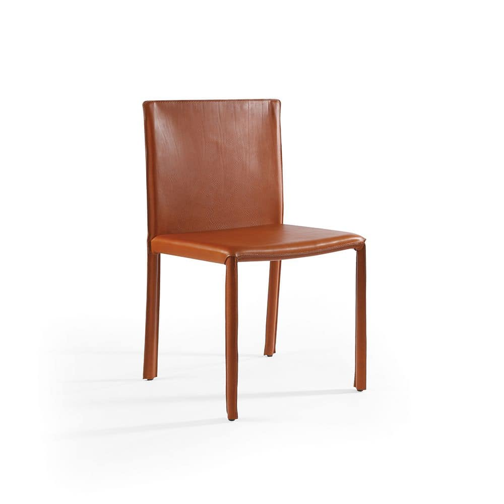 Yuta, Leather chair, suitable for dining rooms and bars
