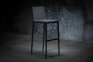 ART. 252/4 MISS, Metal stool, upholstered in leather or fabric