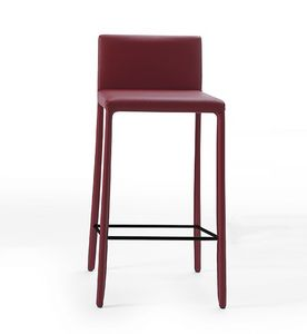 Nunes SG, Imitation leather stool with minimal design