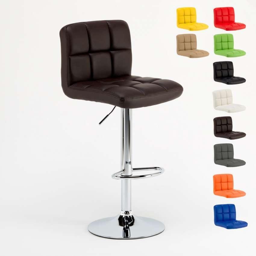 Stool kitchen peninsula bar Atlanta – SGA046ALT, Padded adjustable stool with ergonomic seat