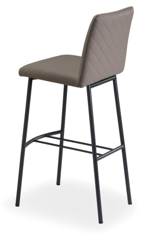 Xelle SGFM, Metal and leather stool with footrest
