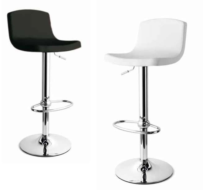 Zoe, Height-adjustable stool with eco-leather seat