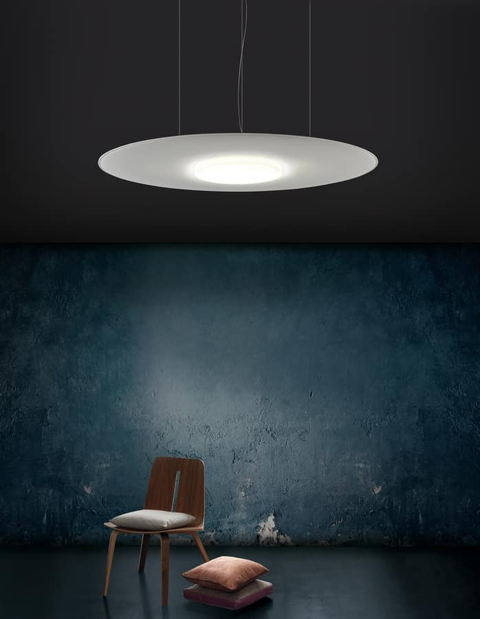 Giotto Lux, Sound absorbing chandelier with led light