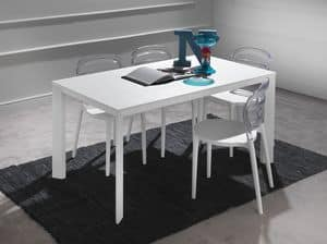 Art. 626 Tecno, Telescopic aluminum table, with top in melamine