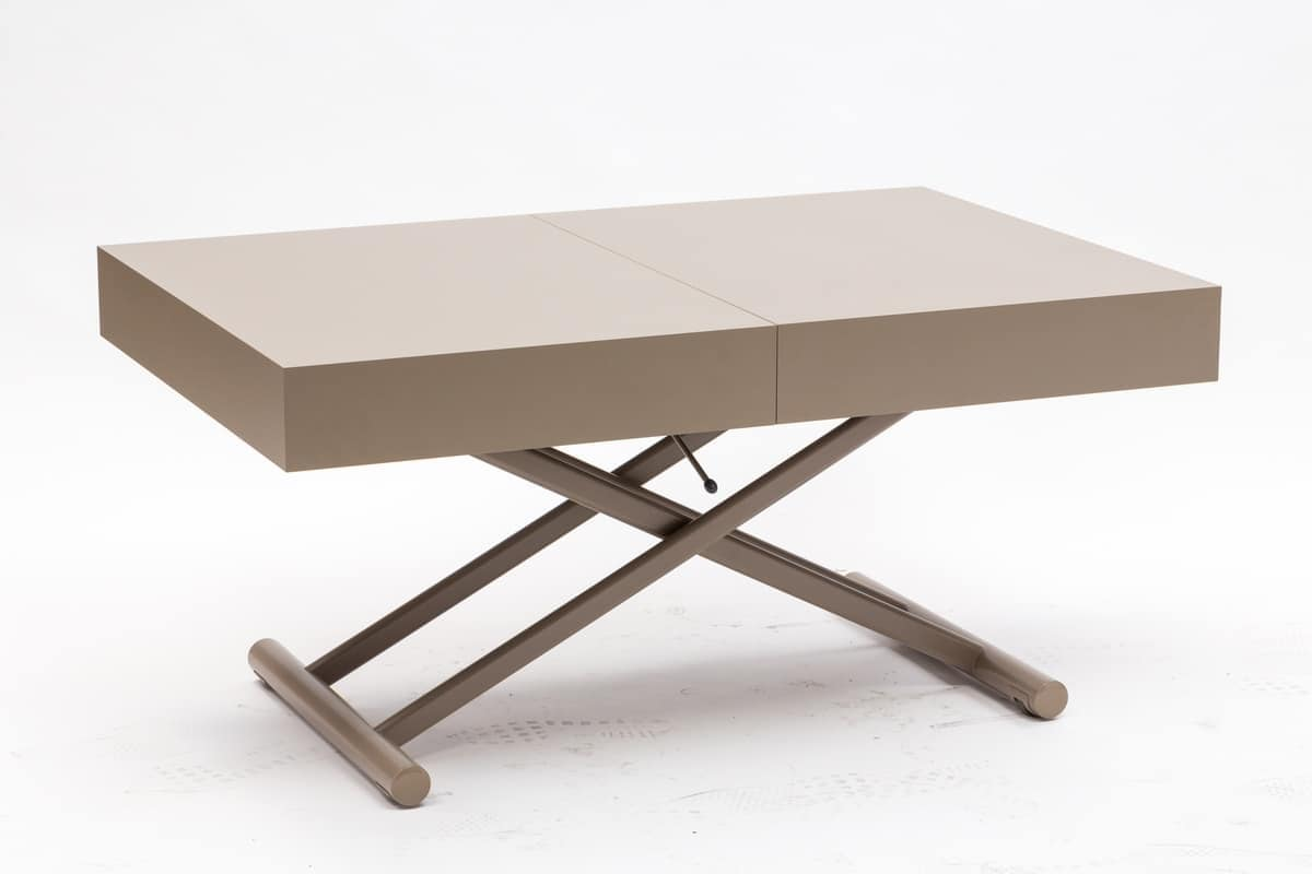 Art. 757 Block, Coffee table converts into a dining table, adjustable height