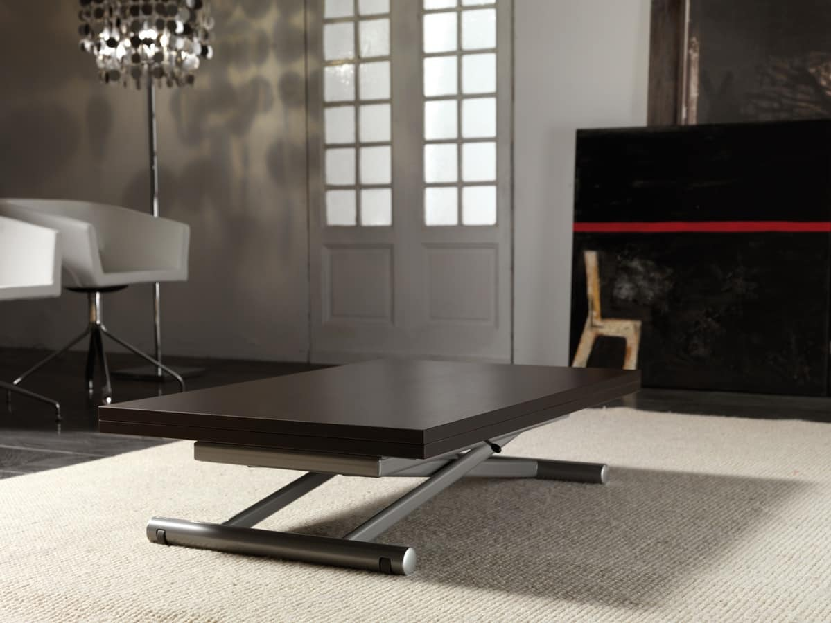 Superbe Art. 758 Lift Wood, Table Height Adjustable With Gas Lift System